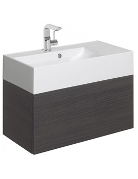 Elite 700mm Single Drawer Anthracite Wall Hung Basin Unit