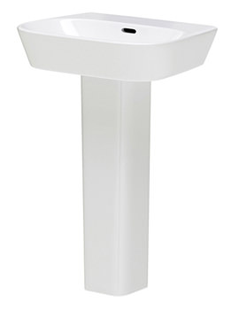 Cambria 600mm 1 Tap Hole Basin And Pedestal