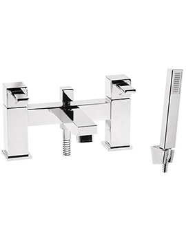 Factor Square Deck Mounted Bath Shower Mixer Tap - T134202