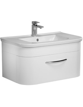 Tavistock Desire 800mm White Wall Mounted Unit And Basin - DS800W