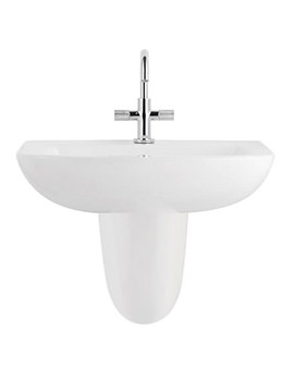 Balterley Reflection 620mm 1 Tap Hole Basin With Semi Pedestal