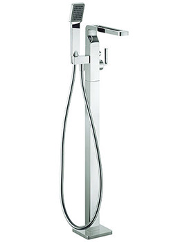 Crosswater Kelly Hoppen Zero 1 Floor Standing Bath Shower Mixer Tap With Kit