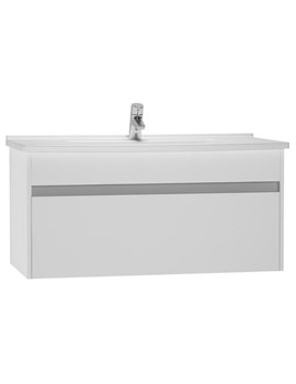 VitrA S50 High Gloss White 1000mm Washbasin Unit - 54742