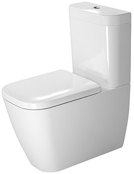 Happy D2 Close Coupled Toilet With Cistern Seat And Cover