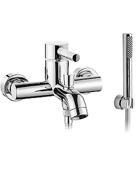 Zoo Wall Mounted Bath Shower Mixer Tap With Kit - ZOO-123+K