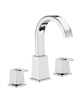 Mr Darcy 3 Hole Basin Mixer Tap With Click Clack Waste