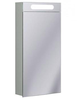 Aluminium 400 x 800mm Single Door Mirrored Cabinet