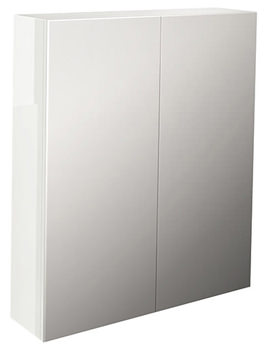 Echo White Gloss Finish Double Door Mirror Cabinet 800mm