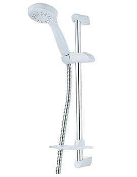 Related Triton Leon Riser Rail Kit With 7000 Series Shower Head White And Chrome