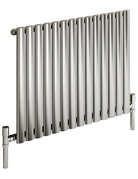 Reina Nerox Single Polished Horizontal Radiator 1003mm Wide x 600mm High