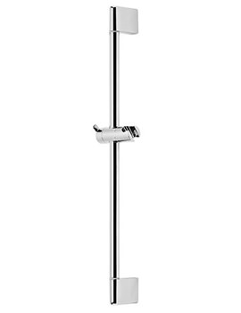 Dive Round Riser Shower Rail Chrome - SVRAIL05
