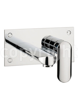 Related Crosswater Voyager Wall Mounted 2 Hole Basin Tap Set - VO121WNC