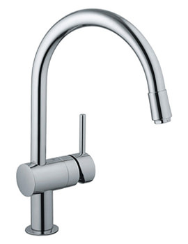 Related Grohe Minta Chrome Sink Mixer Tap With Mousseur Spout - 32918000