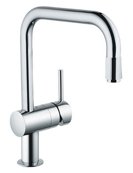 Minta Kitchen Sink Mixer Tap With Pull-Down Spray Head Chrome