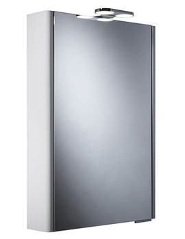 Phase Single Mirror Glass Door Cabinet With LEDs