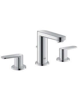 Europlus Three Hole Basin Mixer Tap With Pop Up Waste Set