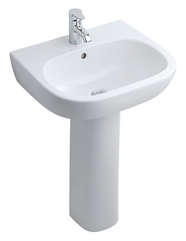 Jasper Morrison 550mm Basin With Full Pedestal