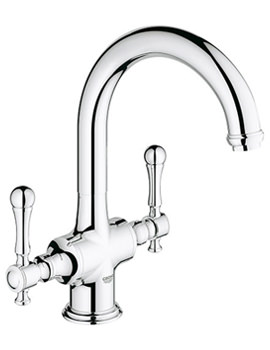 Bridgeford Two Handle Kitchen Sink Mixer Tap With Swivel Spout