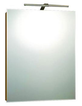 Solitaire Luxury Aluminium LED 550 x 700 Single Door Mirror Cabinet