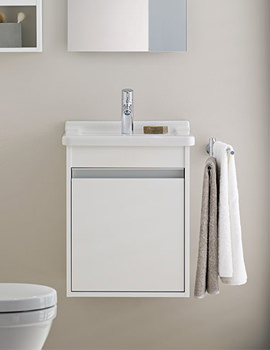 Ketho 400mm Single Door Unit With D-Code 550mm Basin & Duravit Ketho Furniture - Vanity Unit u0026 Bathroom Storage - QS Supplies