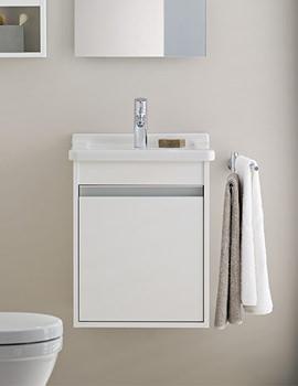 Related D-Code Washbasin 550mm On Ketho Furniture 400mm - KT6658L1818