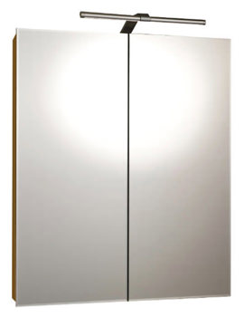 Vogue Luxury Aluminium LED 600 x 700mm Double Door Mirror Cabinet