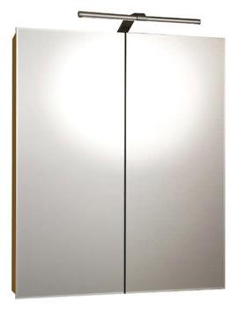 RAK Vogue Luxury Aluminium LED 600 x 700mm Double Door Mirror Cabinet