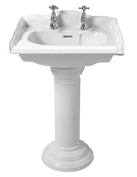 Related Phoenix Balmoral Square Basin And Full Pedestal 530mm - BA012-BA005