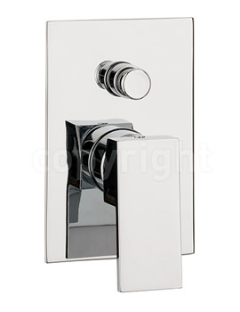 Water Square Manual Recessed Shower Valve With Diverter