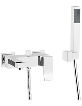 Beo Virtue Wall Mounted Bath Shower Mixer Tap With Kit