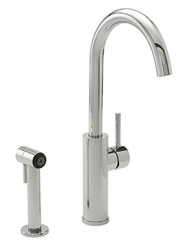 Related Tre Mercati Nelly 2 Hole Side Spray Sink Mixer Tap Chrome - 94020