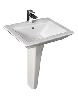 Opulence His Basin With Full Pedestal And Click Clack Waste 580mm