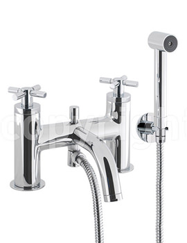 Totti Deck Mounted Bath Shower Mixer Tap With Shower Kit