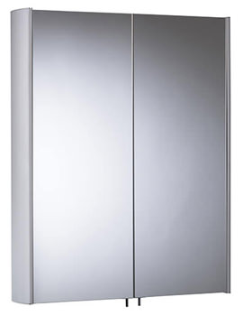 Move 580mm Double Mirror Doors Aluminium Cabinet - MO58AL