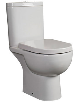 Tonique Fully BTW Close Coupled WC With Soft Close Toilet Seat 625mm