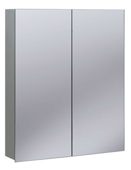 Non-Electric 600 x 720mm Double Door Mirrored Cabinet