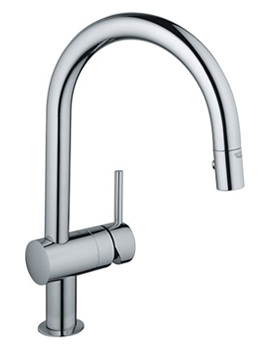 Minta Chrome Monobloc Sink Mixer Tap With Swivel Tubular Spout