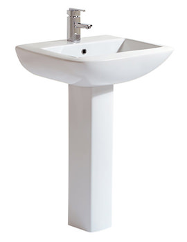 Phoenix Nanno 620mm Basin And Full Pedestal - NA004 - NA005