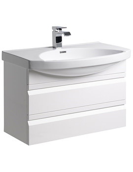 Profile White 800mm Wall Mounted Unit Including Basin