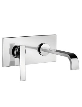 Dance 2 Hole Wall Mounted Basin Mixer Tap Chrome - 25872