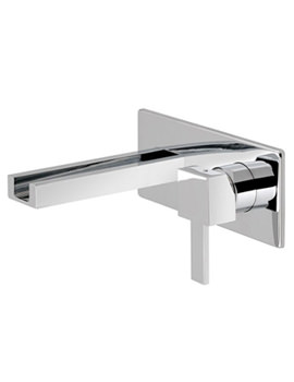 TE Falls Wall Mounted 2 Hole Basin Mixer Tap