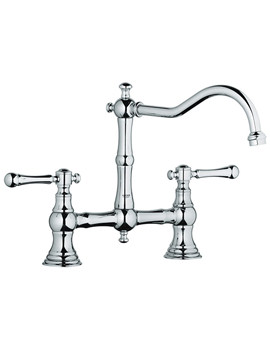Bridgeford Dual Lever Kitchen Sink Mixer Tap With Swivel Spout