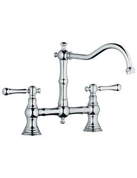 Bridgeford Dual Lever Kitchen Sink Mixer Tap With Swivel Spout