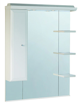 Valencia 800mm Mirror With Shelves - Cupboard And Canopy