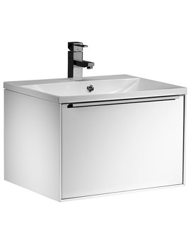 Vista 600mm White Wall Mounted Unit And Basin - VIS600WW