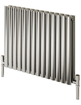 Reina Nerox Single Brushed Horizontal Radiator 1180mm Wide x 600mm High