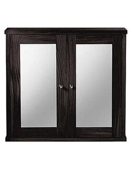 Linea Mirror Wall Cabinet Wenge Finish - XG34WCM042
