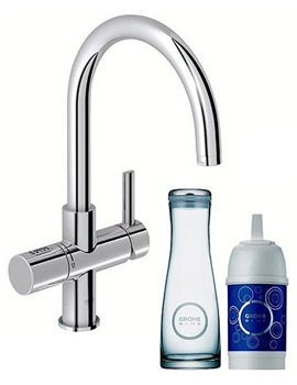 Blue Pure Chrome Kitchen Sink Tap With Swivel C Spout - 31087000