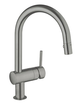 Related Grohe Minta Supersteel Sink Mixer Tap With Extractable Trigger Spray