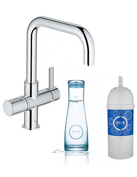 Blue Pure Chrome Single Lever Sink Mixer Tap With Filter Function